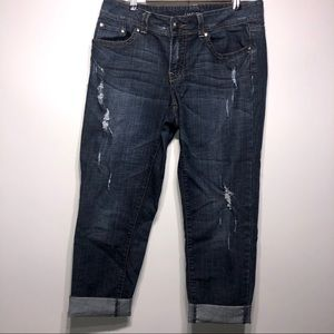 Lane Bryant Distressed Cropped Jeans Size 14